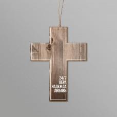"""Подвеска крест 0185 """"Вера Надежда Любовь"""""""