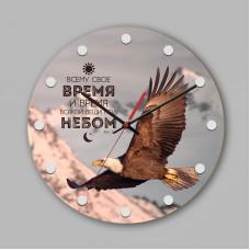 """Часы настенные деревянные """"Всему свое время и время всякой вещи под небом."""" арт. 0208"""